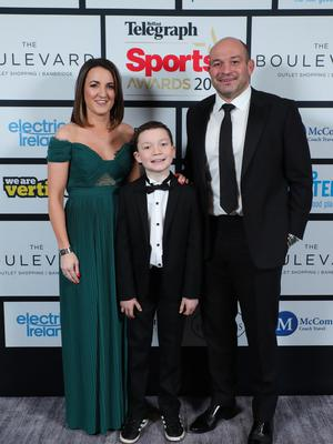 Press Eye - Belfast - Northern Ireland - 20th January  2020   Rory, Ben and Jodie Best  pictured at the 2019 Belfast Telegraph Sport Awards at the Crowne Plaza Hotel in Belfast.  Photo by Kelvin Boyes / Press Eye.