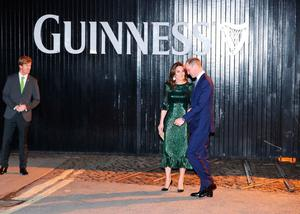 The Duke and Duchess of Cambridge at a reception hosted by the British Ambassador to Ireland at the Gravity Bar, Guinness Storehouse, Dublin, during their three day visit to the Republic of Ireland. PA Photo. Picture date: Tuesday March 3, 2020. See PA story ROYAL Cambridge. Photo credit should read: Niall Carson/PA Wire