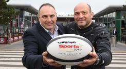 Chris Nelmes from The Boulevard launches the 2019 Belfast Telegraph Sports Awards along with recently retired Ulster and Ireland captain Rory Best.