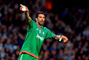 Juventus goalkeeper Gianluigi Buffon during the UEFA Champions League match at the Etihad Stadium, Manchester. PRESS ASSOCIATION Photo. Picture date: Tuesday September 15, 2015. See PA story SOCCER Man City. Photo credit should read: Martin Rickett/PA Wire