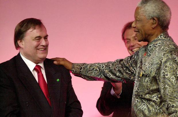 File photo dated 28/069/2000 of former South African President Nelson Mandela greeting Deputy Prime Minister John Prescott (left) as Prime Minister Tony Blair looks on at the Labour Party Conference in Brighton. Former South African leader Nelson Mandela has died at the age of 95, the country's president, Jacob Zuma, said tonight. PRESS ASSOCIATION Photo. Issue date: Thursday December 5, 2013. See PA story DEATH Mandela. Photo credit should read Matthew Fearn/PA Wire