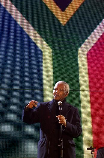 File photo dated 29/04/01 of former President Nelson Mandela speaking on stage at the South Africa Freedom Day concert in Trafalgar Square, London. Former South African leader Nelson Mandela has died at the age of 95, the country's president, Jacob Zuma, said tonight. PRESS ASSOCIATION Photo. Issue date: Thursday December 5, 2013. See PA story DEATH Mandela. Photo credit should read Fiona Hanson/PA Wire