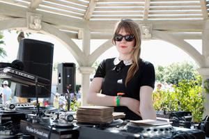 THERMAL, CA - APRIL 13:  DJ Tennessee Thomas performs at LACOSTE L!VE Desert Pool Party In Celebration Of Coachella on April 13, 2013 in Thermal, California.  (Photo by Joe Scarnici/Getty Images for LACOSTE)