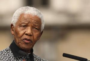 South African President Nelson Mandela, pictured in August 2007 by Daniel Berehulak/PA Wire.
