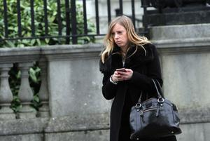 Adele Best leaves Belfast's High Court (29-01-2016) after failing to get an injunction against the Sunday Life.