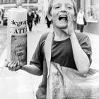 Belfast Telegraph: newsboys. Nine-year-old Emmanuel McGee does his own advertising as he sells the Tele on Royal Avenue