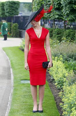 Racegoer Louise Black from Leicester during Ladies' Day on day three of the Royal Ascot meeting at Ascot Racecourse, Berkshire. PRESS ASSOCIATION Photo. Picture date: Thursday June 20, 2013. See PA story RACING Ascot. Photo credit should read: Steve Parsons/PA Wire