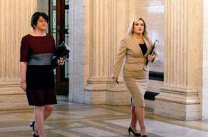 First Minister Arlene Foster and Deputy First Minister Michelle O'Neill at the Assembly on Tuesday. Photo credit: Liam McBurney/PA Wire