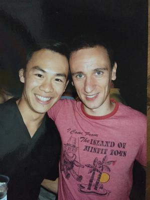 Andy Wong (left) and Joe Palmer - getting married this summer 2017