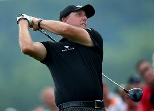LOUISVILLE, KY - AUGUST 10: Phil Mickelson of the United States hits his tee shot on the first hole during the final round of the 96th PGA Championship at Valhalla Golf Club on August 10, 2014 in Louisville, Kentucky.  (Photo by Jeff Gross/Getty Images)