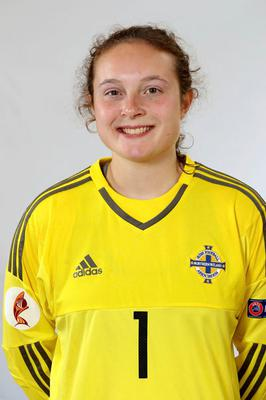 Safe hands: Kirsty McCaughtry is relishing the U19 Euros