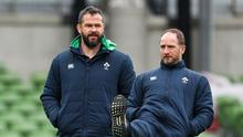 Dream team: Ireland attack coach Mike Catt (right) with head coach Andy Farrell