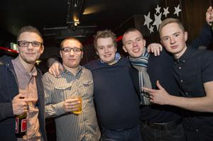 Ollies Christmas pictured Phil Ewart, Stephen Fisher, josh Bolstercoats, Zach McCabe, Craig Gibson