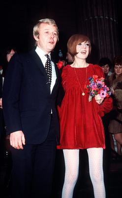 Cilla Black and manager Bobby Willis after their wedding at St Marylebone Register Office in London in 1969. PA Wire.