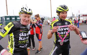 Mark Kane as he wins The Gran Fondo Giro d'Italia as it takes off from the Titanic Building and passes through the streets and roads of Northern Ireland on June 05 2016 in Belfast , Northern Ireland ( Photo by Kevin Scott / Presseye)