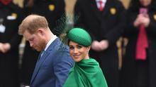 The Duke and Duchess of Sussex arrive at the Commonwealth Service at Westminster Abbey (Dominic Lipinski/PA)