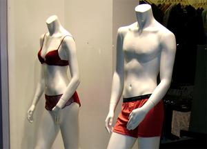 The mannequin was headless, like those pictured
