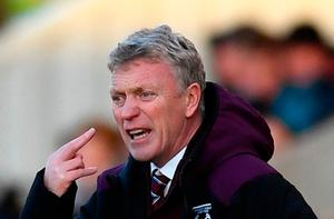 Angry man: David Moyes calls for more after team outplayed