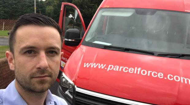 Jonny Morrow, former Parcelforce delivery driver