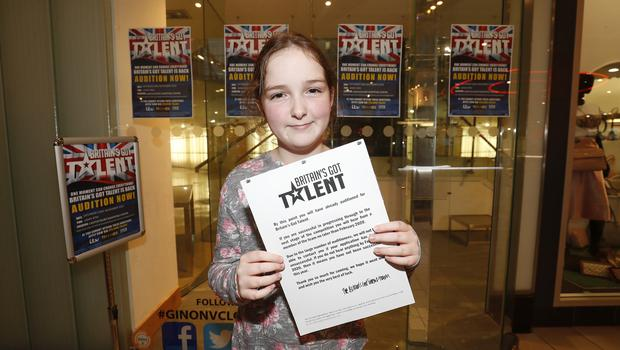 Sinead Coleman (10) from Belfast sang Shallow at the Britain's Got Talent auditions in Castle Court. Picture Colm O'Reilly Sunday Life.