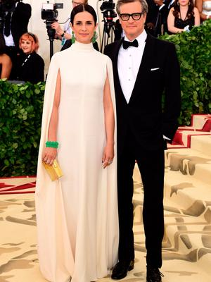 Colin Firth and Livia Firth attending the Metropolitan Museum of Art Costume Institute Benefit Gala 2018 in New York, USA. PRESS ASSOCIATION Photo. Picture date: Monday May 7, 2018. See PA story SHOWBIZ MET Gala. Photo credit should read: Ian West/PA Wire