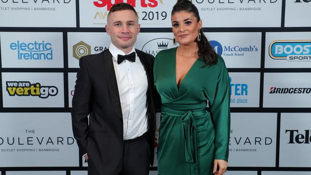 Press Eye - Belfast - Northern Ireland - 20th January  2020   Carl and Christine Frampton pictured at the 2019 Belfast Telegraph Sport Awards at the Crowne Plaza Hotel in Belfast.  Photo by Kelvin Boyes / Press Eye.