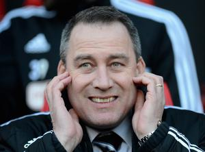 MANCHESTER, ENGLAND - FEBRUARY 09:  Fulham Manager Rene Meulensteen looks on prior to the Barclays Premier League match between Manchester United and Fulham at Old Trafford on February 9, 2014 in Manchester, England.  (Photo by Michael Regan/Getty Images)