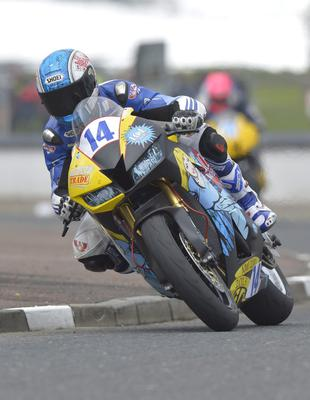 Mandatory Credit: Rowland White/PressEye Motor Cycle Road Racing Event: North West 200 Race: Supersport Tuesday Practice Date: 14th May 2013 Caption: Simon Andrews