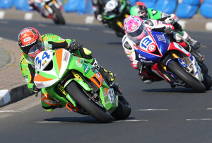 Record-breaker: Alastair Seeley on his way to an historic 16th win at this year's NW200