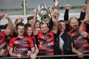 Party time: Armagh lift the Ulster Senior Cup for the second year in succession