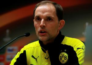 Borussia Dortmund head coach Thomas Tuchel during a press confrence at Anfield, Liverpool. PRESS ASSOCIATION Photo. Picture date: Wednesday April 13, 2016. See PA story SOCCER Dortmund. Photo credit should read: Nick Potts/PA Wire