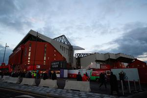 LIVERPOOL, ENGLAND - OCTOBER 17:  Fans arrive at the stadium for the Premier League match between Liverpool and Manchester United at Anfield on October 17, 2016 in Liverpool, England.  (Photo by Clive Brunskill/Getty Images)