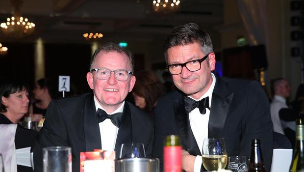 Press Eye - Belfast - Northern Ireland - 2nd February 2017 -    NI Year of Food & Drink Awards at the Culloden Hotel.  Richard McClean and Joris Minne pictured at the NI Year of Food & Drink Awards at the Culloden Hotel.  Photo by Kelvin Boyes / Press Eye.