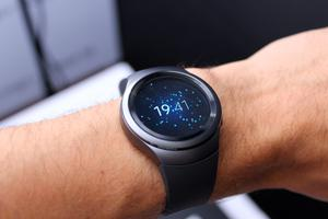 The Samsung Gear S2 smartwatch has its first public outing at the IFA electronics show in Berlin. PRESS ASSOCIATION Photo. Picture date: Wednesday September 2, 2015. Samsung?s first circular smartwatch will carry Samsung Pay so wearers can use the watch to make contactless payments. The smartwatch, which also comes in a Classic version complete with traditional leather strap, will launch in the UK in October with around 1,000 apps available to download and customisable watch faces alongside the technology that allows mobile payments to be made. See PA story TECHNOLOGY Samsung. Photo credit should read: Martyn Landi/PA Wire