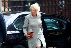 Camilla, Duchess of Cornwall, arrives at St Patrick's Church, Donegall Street, Belfast.