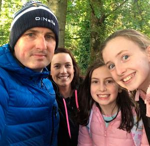 All in: Steven Poacher and family (from right) Caitlin Rose, Eibhlinn and Marie