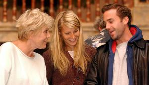 With Gwyneth Paltrow and Joseph Fiennes at the Globe Theatre in 2003 (PA)