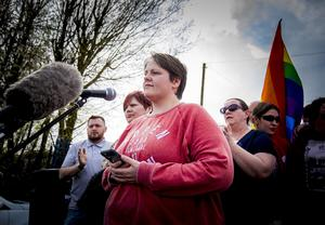 Lyra's partner - Sara Canning A vigil is held for Lyra McKee in Fanad Drive Creggan on April 19th 2019 (Photo by Kevin Scott / Belfast Telegraph)