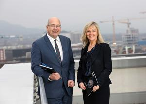 Simon Bedford, partner in the Deloitte Real Estate, and Suzanne Wylie, CEO of Belfast City Council