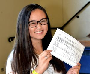 15th August 2019. Portadown College 'A' Level Results  Alex Chan-Taylor who achieved 2 -A and 1-B  at 'A' Level.  Photo by Tony Hendron.