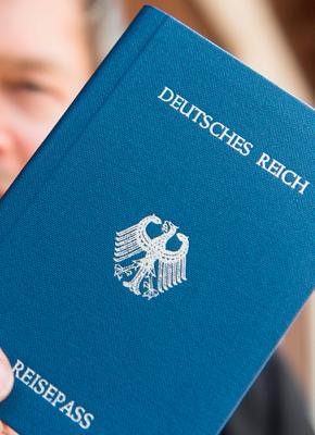 "This picture taken on June 6, 2016 in Rheinfelden shows a so-called ""German Reich passeport"". AFP/Getty Images"