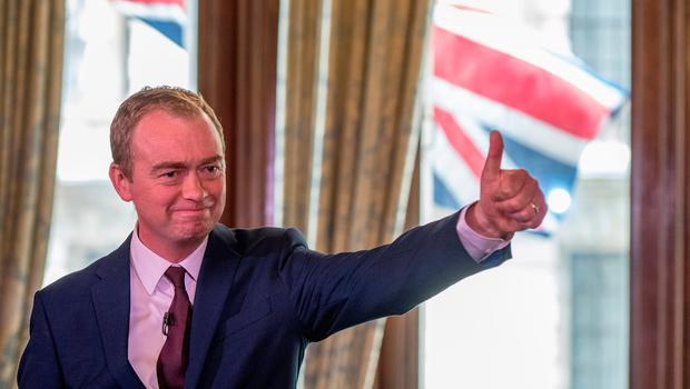Liberal Democrat Party leader Tim Farron speaks to suporters and the press at 1 Whitehall Place on June 9, 2017 in London, England. (Photo by Chris J Ratcliffe/Getty Images)