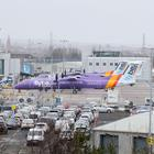 Flybe planes parked at Belfast City Airport amid speculation that the airline is in crisis talks in an attempt to put together a rescue deal. Photo Laura Davison/Pacemaker Press
