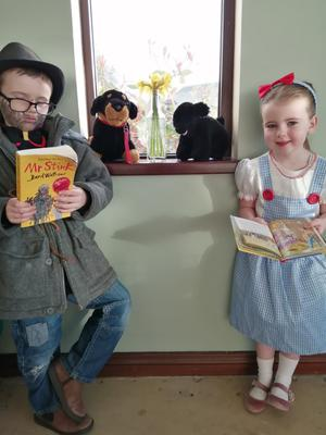 This is Conor (7) and Sophie(5) Hallett dressed up for World Book Day. Sophie is Dorothy from the Wizard of Oz and Conor is Mr Stink.