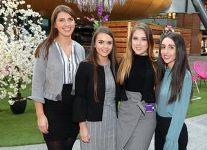 Grant Thornton staff Alice Bergin, Rebecca McIlroy, Naomi Little, and Megan Duff at the firm's Beauty and Business networking event