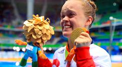 Medal joy: Ellie Simmonds with her fifth Paralympic gold