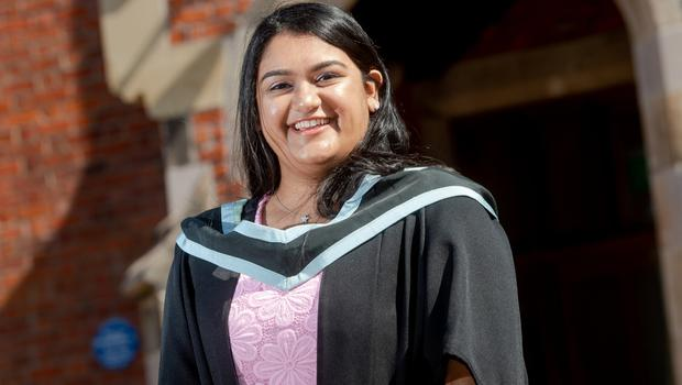 Pictured today at Queen's University Belfast is Annalisa Misra from Belfast who graduated with a degree in Computer Science. Annalisa won course representative of the year in the Faculty of Engineering and Physical Sciences at Queen's.