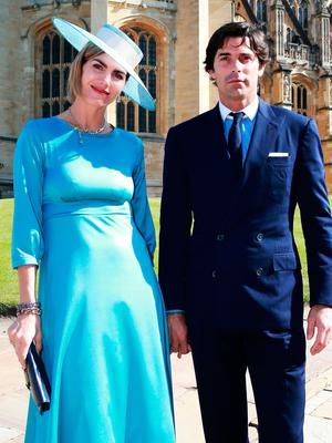 Nacho Figueras and his wife Delfina Blaquier, arrive ahead of the wedding of Prince Harry and Meghan Markle in St George's Chapel at Windsor Castle. Chris Jackson/PA Wire