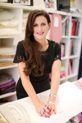 Fashion designer Mary Rose McGrath pictured in her studio in Spires Shopping Centre