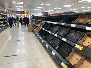 January saw depleted shelves in many Northern Ireland supermarkets (David Young/PA)